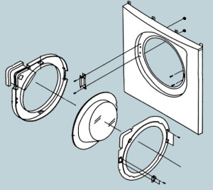 замена двери в стиральной машине